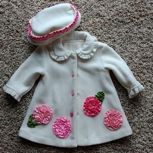 Bonnie Baby matching coat and hat 3 to 6 mths girl